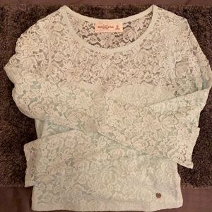 Ambercrombie& Fitch sweetheart lace crop top xs